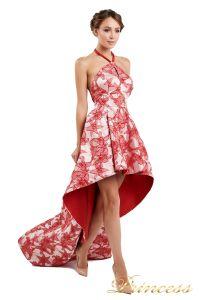 Вечернее платье 13611 red. Цвет цветочное. Вид 2