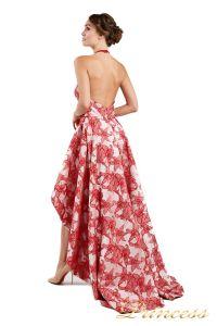 Вечернее платье 13611 red. Цвет цветочное. Вид 3