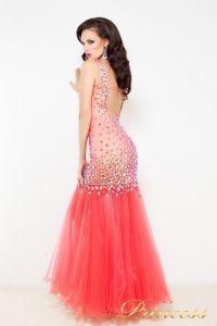 Коктейльное платье 1369. Цвет красный. Вид 2