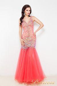 Коктейльное платье 1369. Цвет красный. Вид 1