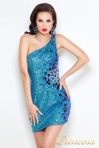Коктейльное платье 1370N. Цвет синий. Вид 2