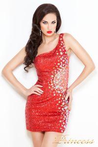 Коктейльное платье 1370R. Цвет красный. Вид 2