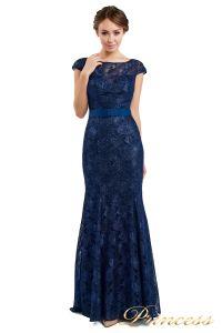Вечернее платье 13710 blue. Цвет синий. Вид 2