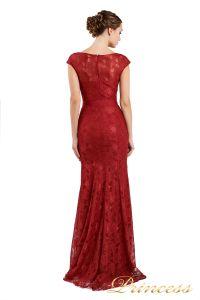 Вечернее платье 13710 wine. Цвет красный. Вид 2