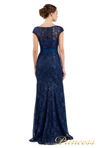 Вечернее платье 13710 blue. Цвет синий. Вид 3