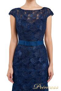 Вечернее платье 13710 blue. Цвет синий. Вид 4