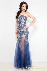 Вечернее платье 1386 B. Цвет синий королевский . Вид 3
