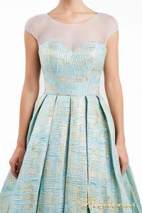 Вечернее платье 13897. Цвет мятный. Вид 3