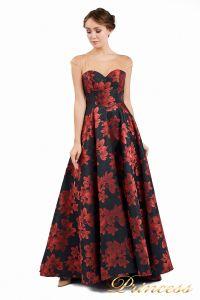 Вечернее платье 13898. Цвет чёрный. Вид 1