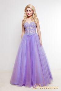Вечернее платье 1391. Цвет фиолетовый. Вид 1