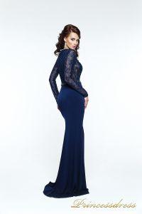 Вечернее платье 140034. Цвет синий. Вид 2