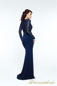 Вечернее платье 140034. Цвет синий. Вид 3
