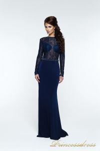 Вечернее платье 140034. Цвет синий. Вид 4