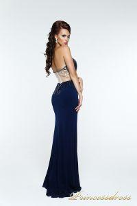 Вечернее платье 140369. Цвет синий. Вид 2