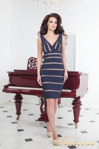 Коктейльное платье 14062 navy. Цвет синий. Вид 2
