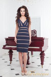 Коктейльное платье 14062 navy. Цвет синий. Вид 1