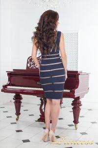 Коктейльное платье 14062 navy. Цвет синий. Вид 3