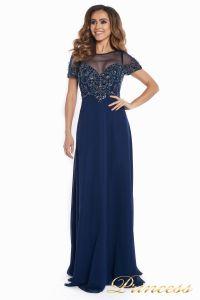 Вечернее платье 140715. Цвет синий. Вид 3