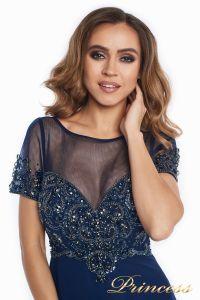 Вечернее платье 140715. Цвет синий. Вид 5