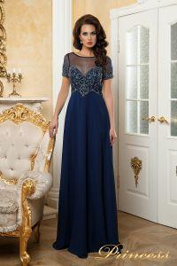 Вечернее платье 140715. Цвет синий. Вид 6