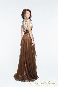 Вечернее платье 140718. Цвет коричневый. Вид 3