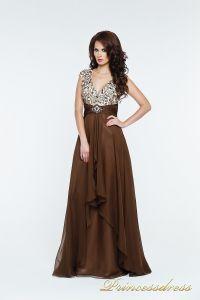 Вечернее платье 140718. Цвет коричневый. Вид 2
