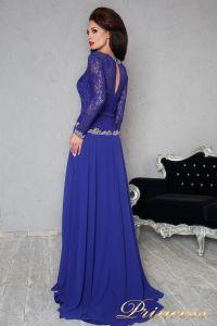 Вечернее платье 140946. Цвет электрик . Вид 2