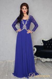 Вечернее платье 140946. Цвет электрик . Вид 1