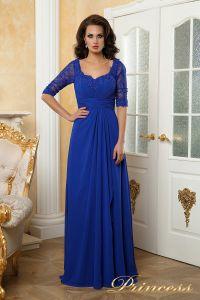 Вечернее платье 140950. Цвет электрик . Вид 2