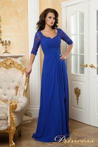 Вечернее платье 140950. Цвет электрик . Вид 1
