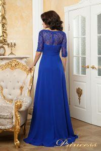 Вечернее платье 140950. Цвет электрик . Вид 3