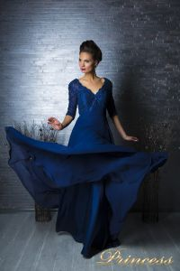 Вечернее платье 140957. Цвет синий. Вид 4