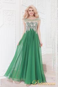 Вечернее платье 4675 green. Цвет зеленый. Вид 1