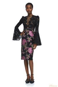 Вечернее платье Tadashi Shoji AYR17735M BLACK. Цвет цветочное. Вид 1