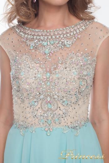 Вечернее платье 150009_blue. Цвет голубой. Вид 2
