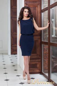Коктейльное платье 15003 navy. Цвет синий. Вид 2