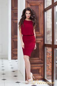 Коктейльное платье 15003 red . Цвет красный. Вид 1