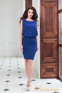 Коктейльное платье 15003 royal. Цвет электрик . Вид 1