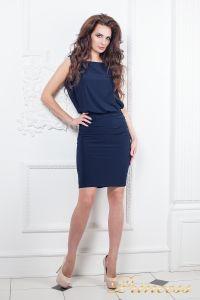Коктейльное платье 15003 navy. Цвет синий. Вид 1