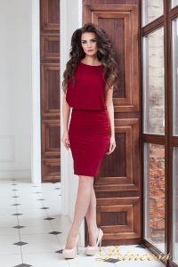 Коктейльное платье 15003 red . Цвет красный. Вид 2