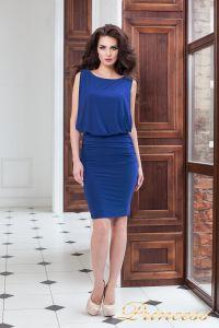 Коктейльное платье 15003 royal. Цвет электрик . Вид 2