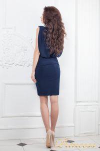 Коктейльное платье 15003 navy. Цвет синий. Вид 3