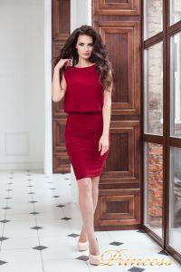 Коктейльное платье 15003 red . Цвет красный. Вид 3