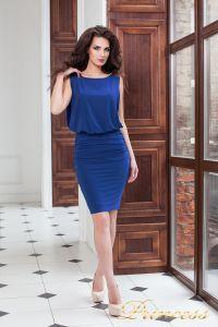 Коктейльное платье 15003 royal. Цвет электрик . Вид 3
