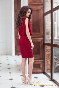 Коктейльное платье 15003 red . Цвет красный. Вид 4
