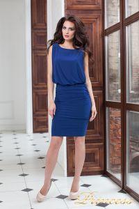 Коктейльное платье 15003 royal. Цвет электрик . Вид 5