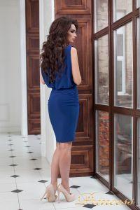 Коктейльное платье 15003 royal. Цвет электрик . Вид 4