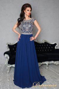 Вечернее платье 151232. Цвет синий. Вид 2