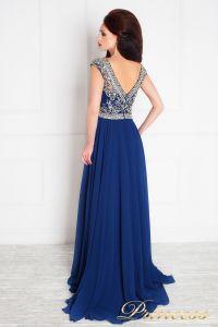 Вечернее платье 151232. Цвет синий. Вид 3