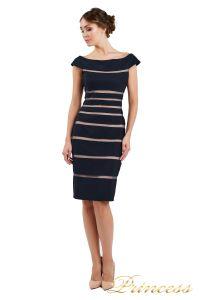 Коктейльное платье 16002 dark-navy. Цвет чёрный. Вид 2